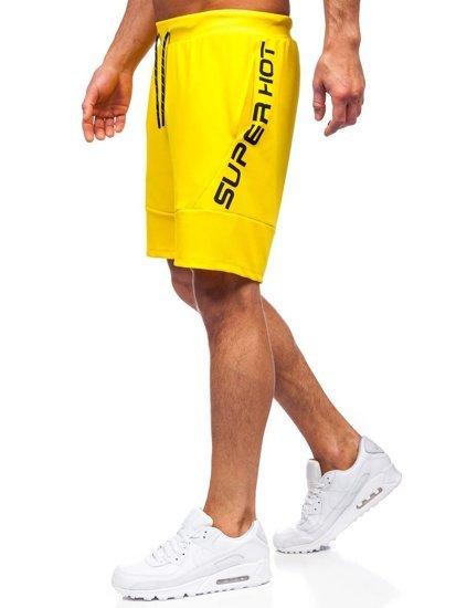 Жовті чоловічі спортивні шорти Bolf KS2596