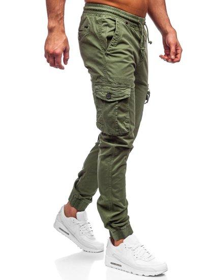 Зелені чоловічі штани джоггери карго Bolf CT6706S0