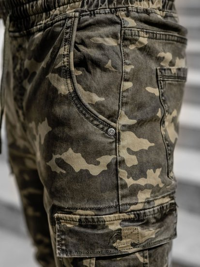 Зелені чоловічі штани джоггери карго Bolf KA2122