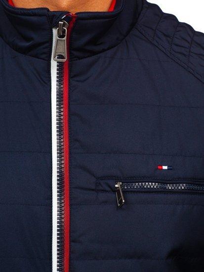 Куртка чоловіча демісезонна темно-синя Bolf 2060