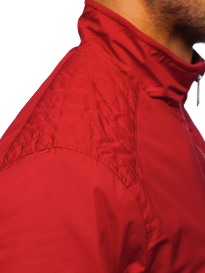 Куртка чоловіча демісезонна червона Bolf 1907-1