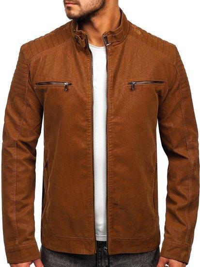 Куртка чоловіча шкіряна коричнева Bolf EX927