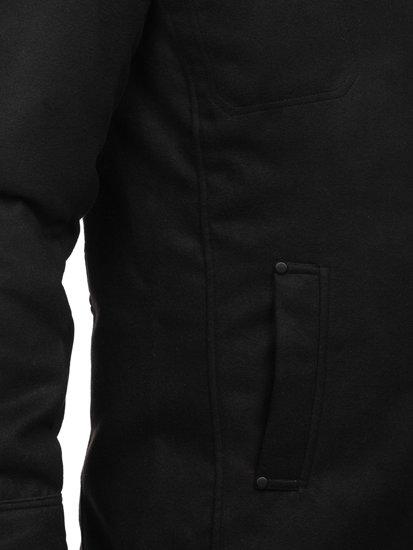 Мужское пальто черное Bolf 8856