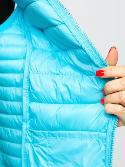 Синій стьобаний жіночий жилет Bolf 23038