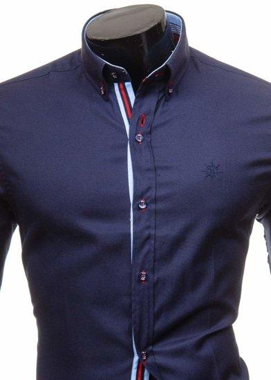 Сорочка чоловіча BOLF 5801 темно-синя