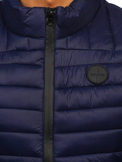 Темно-синій стьобаний чоловічий жилет Bolf 58M891