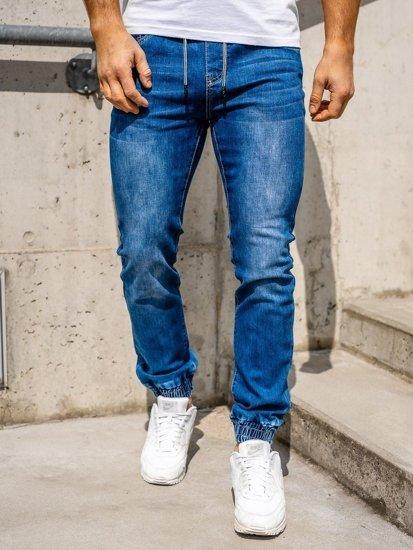 Темно-сині чоловічі джинси джоггери Bolf KA1539