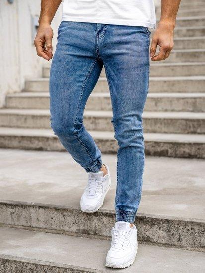 Темно-сині чоловічі джинси джоггери Bolf KA1626