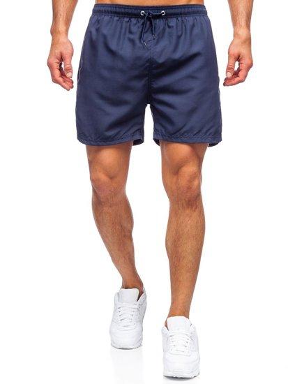 Темно-сині чоловічі пляжні шорти Bolf YW07001