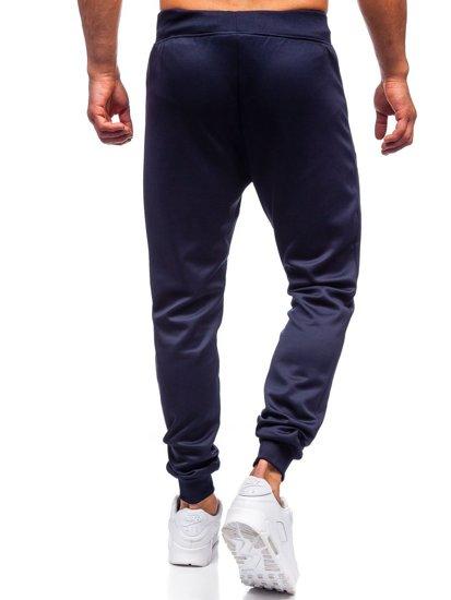 Темно-сині чоловічі спортивні штани Bolf K10238