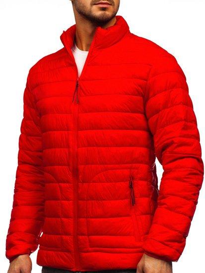 Червона стьобана демісезонна чоловіча куртка Bolf 13007