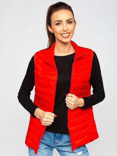 Червоний стьобаний жіночий жилет Bolf 23038