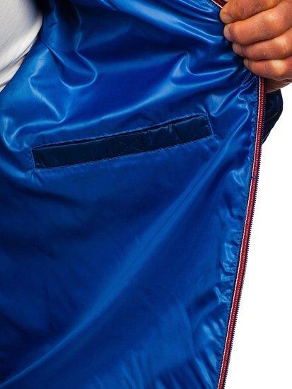 Чоловіча демісезонна спортивна куртка синя Bolf 1908