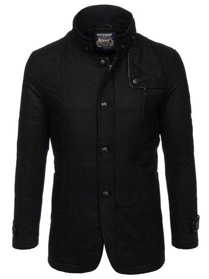 Чоловіче пальто чорне Bolf EX66A