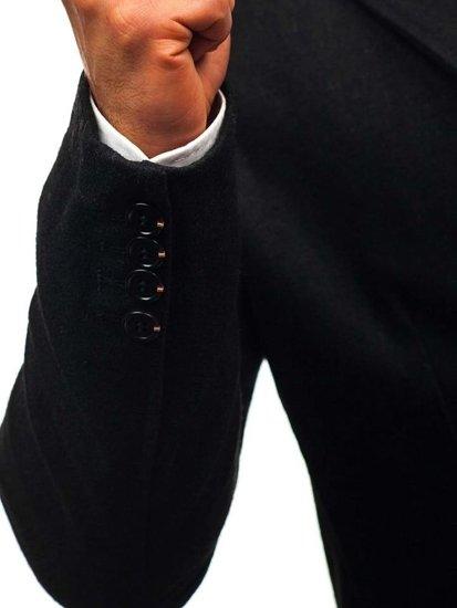 Чоловіче пальто чорне Bolf NZ01