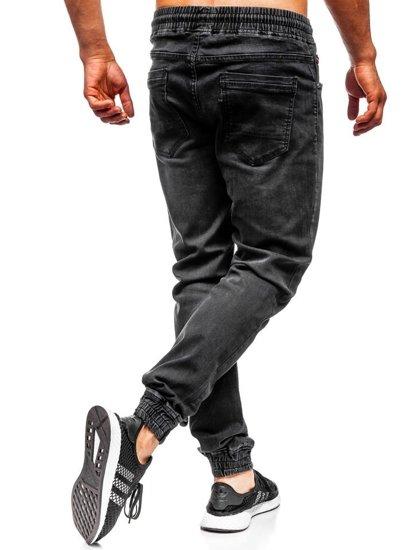 Чоловічі джинсові штани джоггери чорні Bolf KA1101