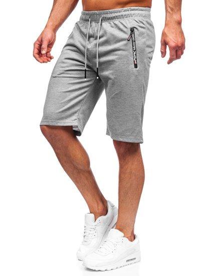 Чоловічі сірі спортивні шорти Bolf JX512