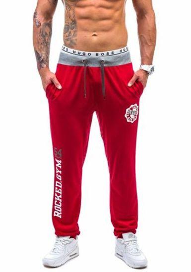 Чоловічі трикотажні штани червоні Bolf 1044