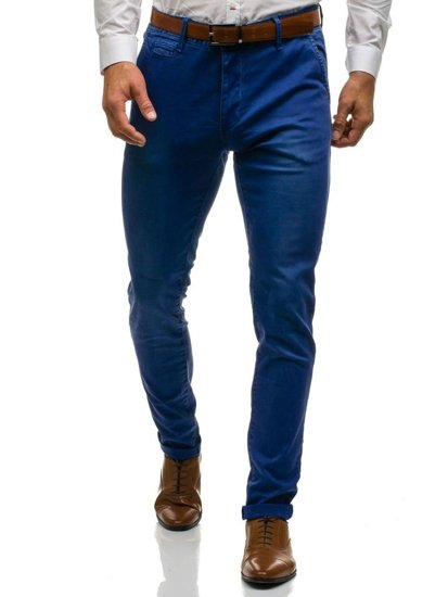 Чоловічі штани чинос темно-сині Bolf 7315