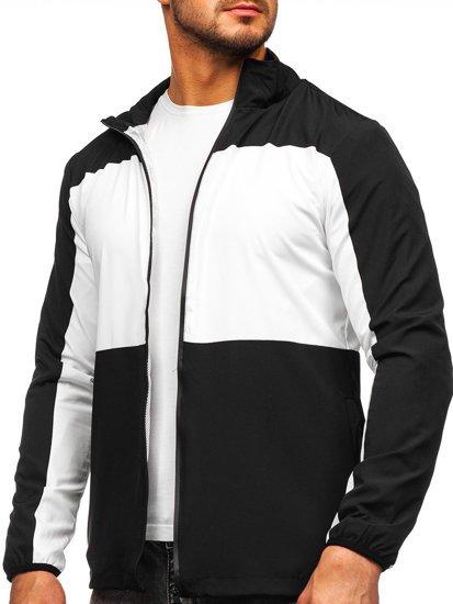 Чорна вітровка чоловіча спортивна куртка Bolf HM094