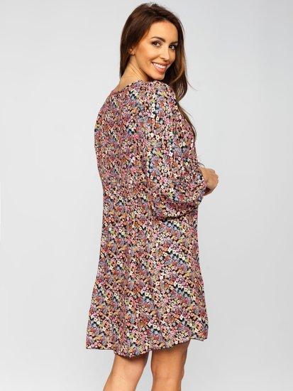 Чорна сукня жіноча в квіточку Bolf 3019