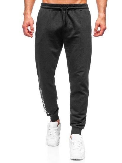 Чорні чоловічі спортивні штани Bolf 8624