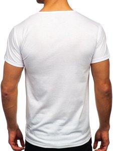 Біла чоловіча футболка з принтом Bolf KS2633