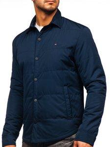 Куртка чоловіча демісезонна темно-синього кольору Bolf 2068