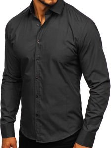 Сорочка чоловіча BOLF 1703 чорна