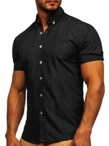 Сорочка чоловіча BOLF 5535 чорна