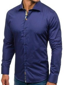 Сорочка чоловіча GLO-STORY 9983 темно-синя