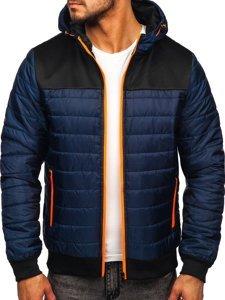 Темно-синя спортивна чоловіча демісезонна куртка Bolf M10011