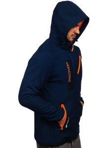 Темно-синя чоловіча куртка софтшелл Bolf HH023