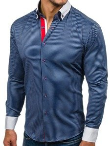 Чоловіча елегантна сорочка з довгим рукавом Bolf 2790