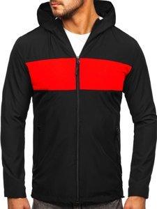 Чорна вітровка чоловіча спортивна куртка Bolf HM147