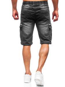 Чорні джинсові шорти чоловічі карго Bolf K15006-2
