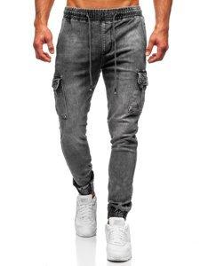 Чорні чоловічі джинси джоггери Bolf KA1311