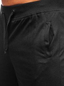 Чорні чоловічі спортивні шорти Bolf K10003