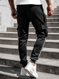 Чорні чоловічі спортивні штани карго Bolf K10281
