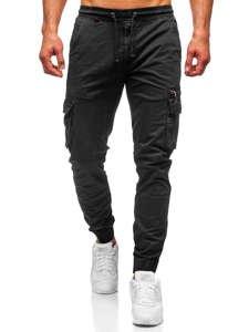 Чорні чоловічі штани джоггери карго Bolf CT6702S0